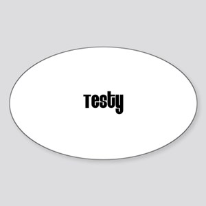 Testy Oval Sticker