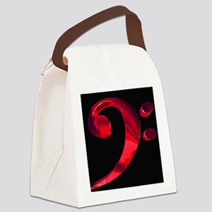 GrandRoyalBassClefDeepRed Canvas Lunch Bag