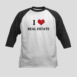 I Love Real Estate Kids Baseball Jersey