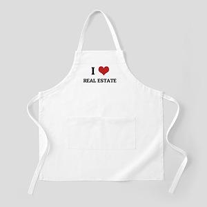 I Love Real Estate BBQ Apron