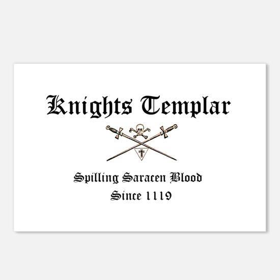 Knights Templar Spilling Sara Postcards (Package o
