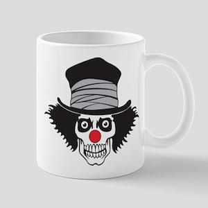 Evil Clown Skull In Top Hat Mugs