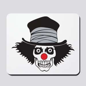Evil Clown Skull In Top Hat Mousepad