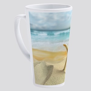 Starfish on Beach 17 oz Latte Mug