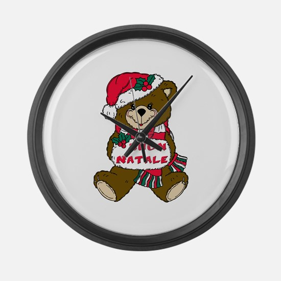 Buon natale Large Wall Clock