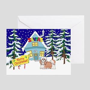 Santas Place Shih Tzu Greeting Card