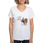 I'm not a German Shepherd! Women's V-Neck T-Shirt