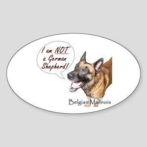 I'm not a German Shepherd! Oval Sticker