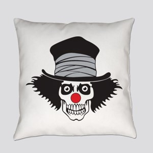 Evil Clown Skull In Top Hat Everyday Pillow