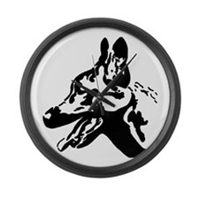 Malinois Silhouette Large Wall Clock