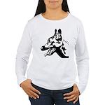 Malinois Silhouette Women's Long Sleeve T-Shirt