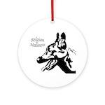 Malinois Silhouette Keepsake (Round)