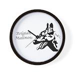 Malinois Silhouette Wall Clock