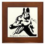 Malinois Silhouette Framed Tile
