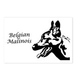 Malinois Silhouette Postcards (Package of 8)