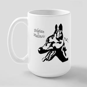 Malinois Silhouette Large Mug
