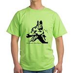 Malinois Silhouette Green T-Shirt