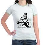 Malinois Silhouette Jr. Ringer T-Shirt