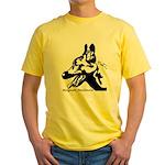 Malinois Silhouette Yellow T-Shirt