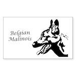 Malinois Silhouette Rectangle Sticker