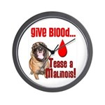 Give Blood, Tease a Malinois Wall Clock