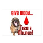 Give Blood, Tease a Malin Postcards (Package of 8)