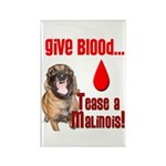 Give Blood, Tease a Mal Rectangle Magnet (10 pack)