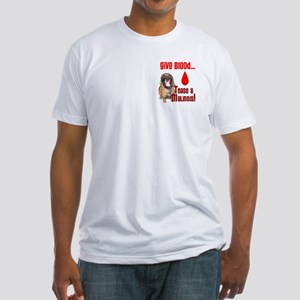 Give Blood, Tease a Malinois Fitted T-Shirt
