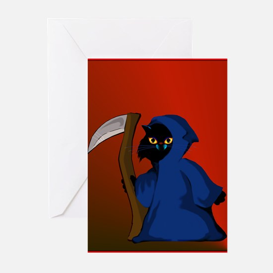 Verrrry spooky Little Reaper Greeting Cards (Pk of