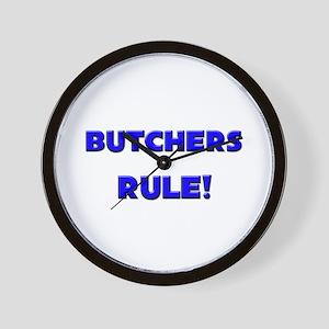 Butchers Rule! Wall Clock