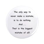 """Make a Mistake 3.5"""" Button (100 pack)"""