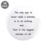 """Make a Mistake 3.5"""" Button (10 pack)"""