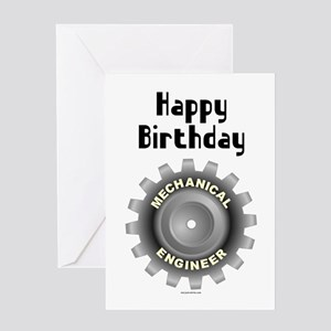 Mechanical Engineer Birthday Blank Greeting Card