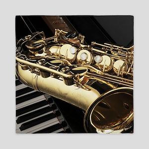 Saxophone And Piano Queen Duvet