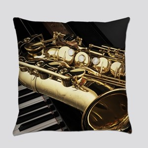 Saxophone And Piano Everyday Pillow