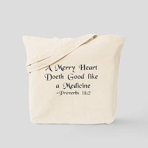 """A Merry Heart"" Tote Bag"