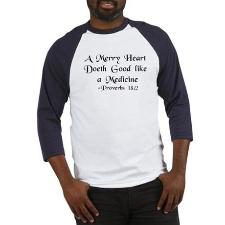 """A Merry Heart"" Baseball Jersey"