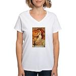 Pumpkin Head Women's V-Neck T-Shirt