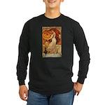 Pumpkin Head Long Sleeve Dark T-Shirt