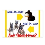 Malinois NOT Mallomar Postcards (Package of 8)