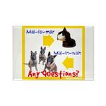 Malinois NOT Mallomar Rectangle Magnet