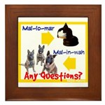 Malinois NOT Mallomar Framed Tile