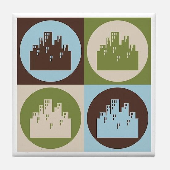 Urban Planning Pop Art Tile Coaster