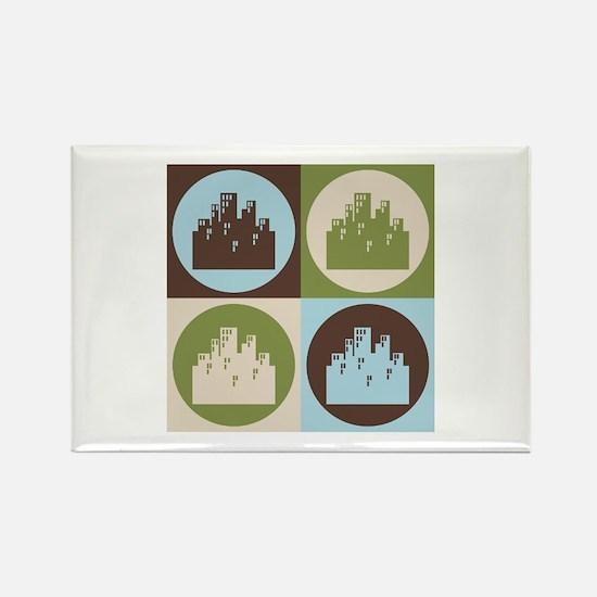 Urban Planning Pop Art Rectangle Magnet