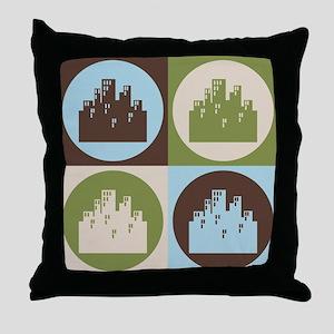 Urban Planning Pop Art Throw Pillow