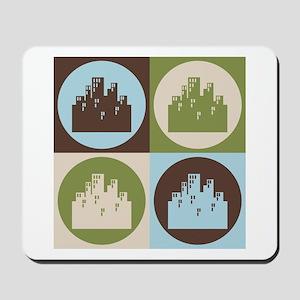 Urban Planning Pop Art Mousepad