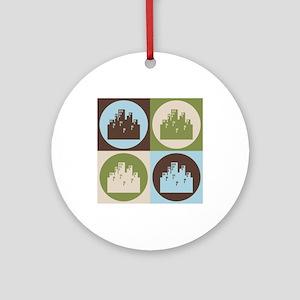 Urban Planning Pop Art Ornament (Round)