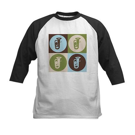 Tuba Pop Art Kids Baseball Jersey