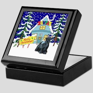 Santas Place Scottie Keepsake Box