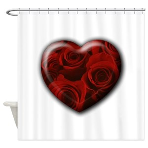 Black Red Roses Shower Curtains